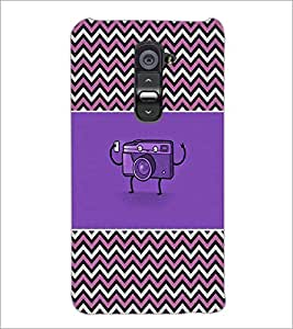 PrintDhaba Camera D-2612 Back Case Cover for LG G2 (Multi-Coloured)