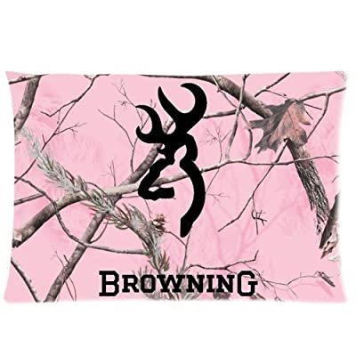 Bedroom Decor Custom Browning Cutter Logo Camo Pillowcase Zippered 20x26 Inchs Design Two Sides Printed Throw Pillow Cover Cushion Case Covers