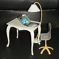 Imported 4pcs/Set Office Accs Table Chair PC Lamp For 29cm Barbie Dolls Random Color
