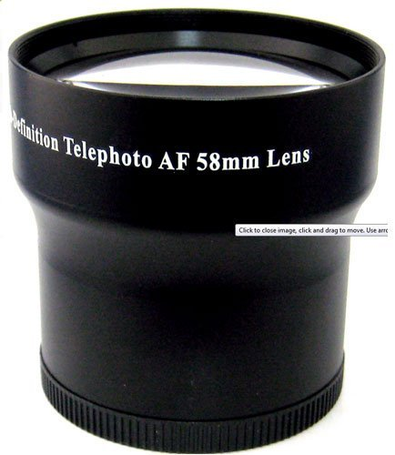 Professional 3.5X Super Telephoto Hd Lens Kit With Adapter For Canon Powershot G15 & G16 Camera