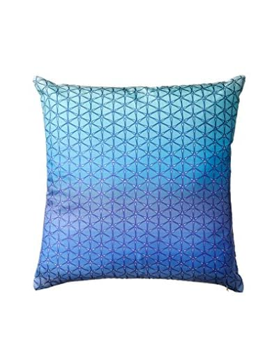 Nitin Goyal London Ombré Geo Silk Throw Pillow