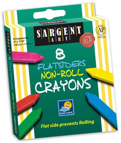 Sargent Art 35-0591 8-Count Flatsiders and No Roll Crayon