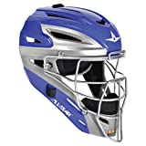 AllStar Adult Pro Model 2Tone Catcher's Helmet , Royal Blue Silver  by All-Star