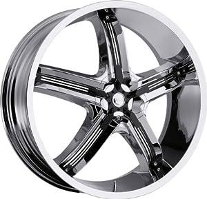 MILANNI – 459 bel-air 5 – 20 Inch Rim x 8 – (5×112/5×4.5) Offset (38) Wheel Finish – chrome with black inserts