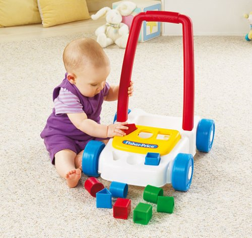 Fisher Price Brilliant Basics Block Cart Walker - 1