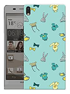 """Humor Gang Cute Baby Stuff - Green Printed Designer Mobile Back Cover For """"Huawei Acsend P6"""" (3D, Matte, Premium Quality Snap On Case)"""