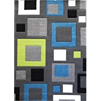 Modern Area Rug Design ST 601 Charcoal