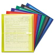 Poly Envelopes, 1 1/4 Inch Expansion, Letter, Six Colors, 6/Pack