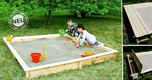 Sandkasten Sandkiste YANICK mit Sitz-/Staukasten Modul jetzt bestellen