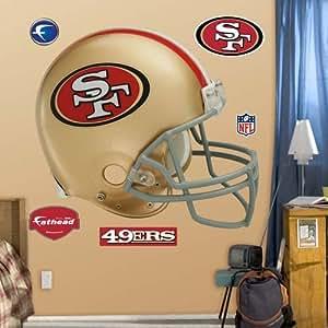 Fathead san francisco 49ers helmet wall for 49ers wall mural