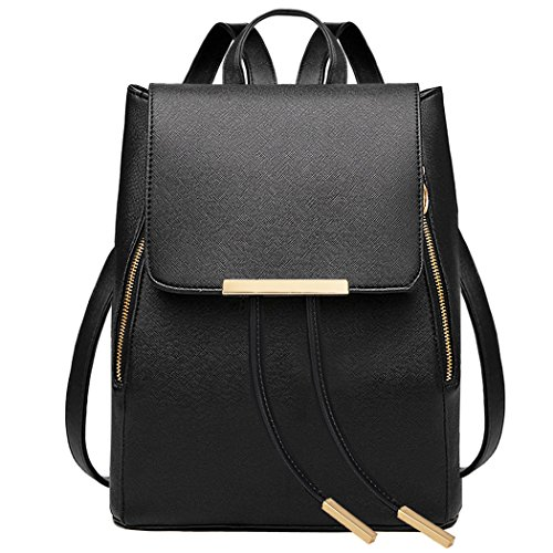 coofit-black-leather-backpack-for-girls-schoolbag-mini-casual-daypack