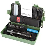 Multi-Modes 5+2 super bright LED Flashlight Box Set Up to 5,000 LM Outdoor Activities Designed Home Emergency Tools Light SOS Waterproof for Outdoor Camping Hunting Survival Pocket Set EM-C6