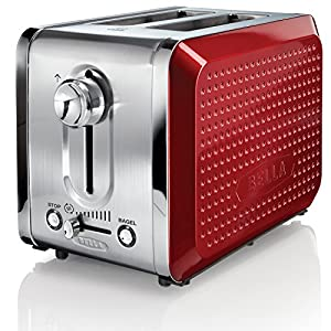 BELLA 13701 Dots Collection 2-Slice Toaster, Red by BELLA