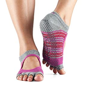 ToeSox Bella Half Toe Grip Ankle Socks