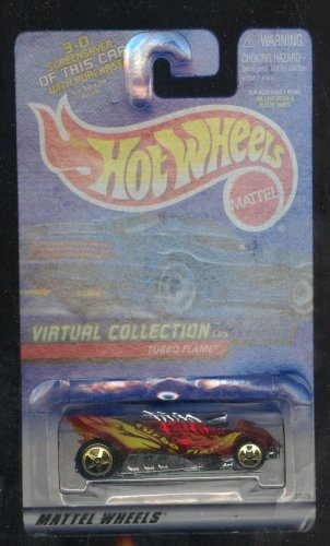 Hot Wheels 2000-112 Turbo Flame Virtual Collection 1:64 Scale - 1