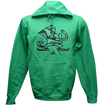 Notre Dame Fighting Irish Adidas Fleece Coming At You Hoody Green by adidas