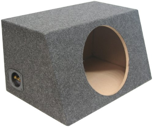 "Asc Single 12"" Subwoofer Sealed Universal Fit Angled Hatch Sub Box Speaker Enclosure"