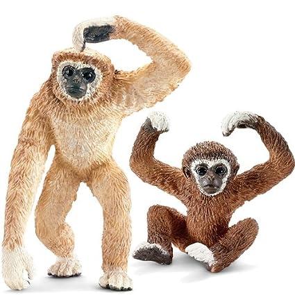 Schleich Famille Gibbon - Set Avec 2 Figurines - 14717 14718