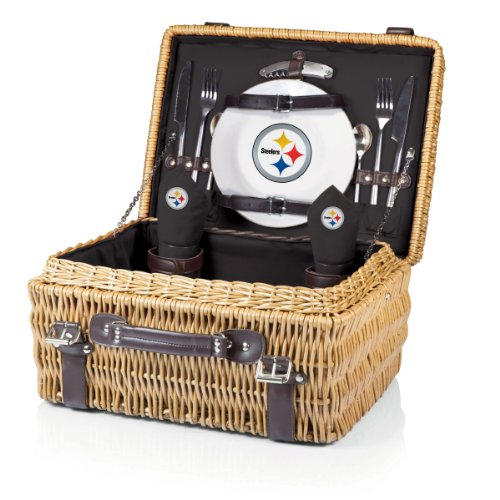 NFL Pittsburgh Steelers Champion Picnic Basket with Deluxe Service for Two at Amazon.com