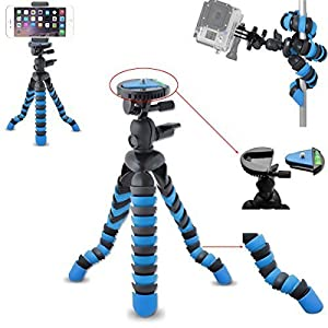 "AVAWO Universal 12"" Inch Flexible Tripod Wrapable Leg Quick Release Plate for GoPro HERO 1 2 3 3+ 4, iPhone 6 6S Plus 5S Samsung S4 S5 S6 Smartphone + GoPro Tripod Mount + Cell Phone Tripod Adapter"