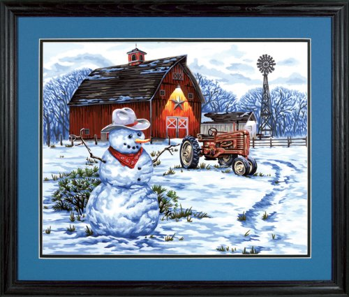 Dimensions Paint by Number Craft Kit, Country Snowman