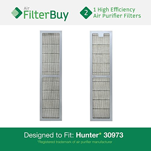2 - Hunter 30973 Air Purifier Replacement Filter. Designed by FilterBuy to fit Hunter Models 30890 & 30895. (Hunter Filter Replacement 30406 compare prices)
