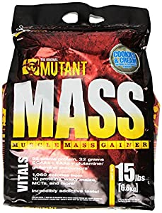 PVL Mutant Mass 6800 g Cookies and Cream Weight Gain Shake Powder