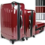 Lot de 3 valises Trolley - avec serru...