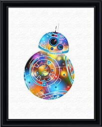Aprilskys Workshop 8X10 BB8 Painting Star Wars Canvas Art Print Wall Decor Home Décor Room Deco Inspirational Wall Art Gift A388