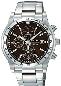 Men's Brown Dial Stainless Steel