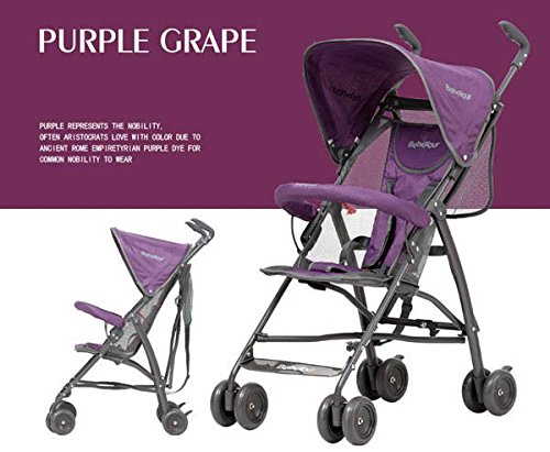 Purple Baby Stroller For Summer Light Umbrella Car Folding Four Wheel Stroller Age 6-36M