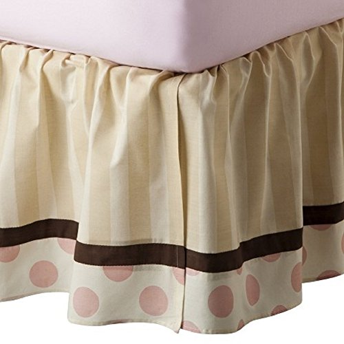Tiddliwinks Unisex Pattern Girl's Dust Ruffle Beige Full