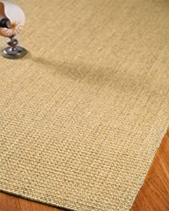 Stanford Sisal Rug Hand Crafted - Self Bound, Non-Slip Latex Backing, Eco-Friendly, 4' x 6'