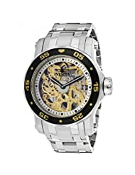 Invicta Men's 10304 Pro Diver Mechanical Gold Tone Skeleton Dial Watch