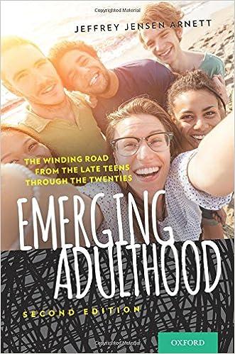 Emerging Adulthood Second Edition by Jeffrey Jensen Arnett
