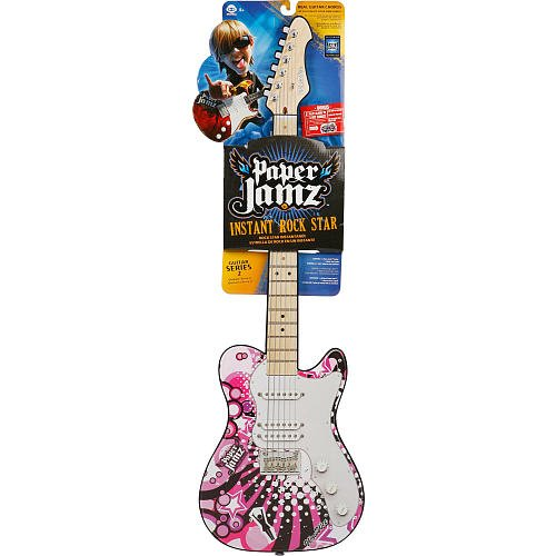 wowwee paper jamz pro guitar series style 1 W62881 features: -paper jamz pro guitar - style 1 -freestyle: go solo and play  real chords and notes to create your own hit songs -rhythm: control a song's.