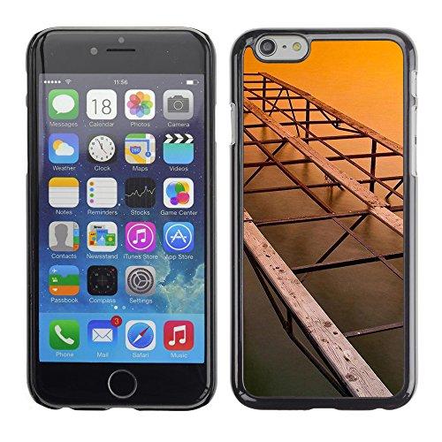 Qcase Slim Pc / Aluminium Sleek Case Cover Armor Shell -- Architecture Old Bridge -- Apple Iphone 6