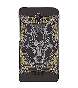 Fuson Premium Back Case Cover Designed bull With Brown Background Degined For Micromax Canvas Spark Q380