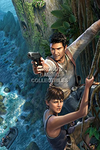 """CGC enorme-Poster Uncharted Drake-Inizio Concetto-PS3PS4-uch038, Carta, 24"""" x 36"""" (61cm x 91.5cm)"""