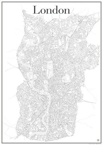 london-city-map-poster-art-print-road-network-showing-unique-metropolitan-structure-of-london-englan