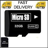 #10: 32 GB Micro SD Card TF Flash Memory MicroSD Micro SDHC Class 10 Free Adapter 32GB SD CARD