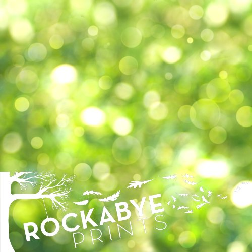 Photography Backdrop / Floordrop - 5Ft X 5Ft Green Outdoor Bokeh - Durable Vinyl Backgroud front-977580