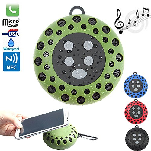 Boriyuan New Ultra-Portable Honeycomb Pattern Outdoor Sports Speaker Waterproof Bluetooth Wireless Stereo With Nfc Hifi Speaker Shower Pool Car Hands-Free Mic For Apple Iphone 3 3G 3S 4 4S 5 5C 5S / 4.7'' Iphone 6 / 5.5'' Iphone 6 Plus, Ipad 2 3 4 5 Air M