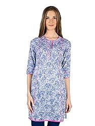 Panit Women's Cotton Kurta (PANI025_Blue_X-Large)