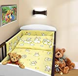COT BUMPER 100 COTTON PADDED FOR BABY FIT COT 120x60 140x70 STRAIGHT 180cm to fit cot 120x60cm Puppy Cream