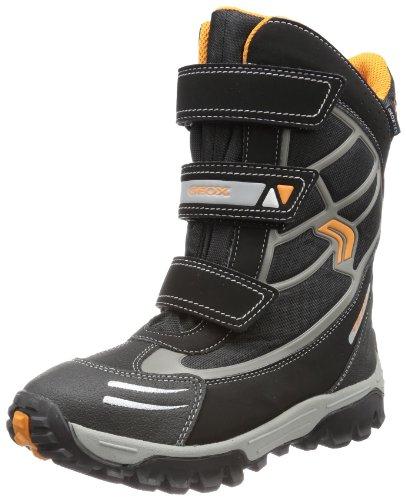 Geox CHIMALAYAWPF7 Snow Boot (Toddler/Little Kid/Big Kid),Black/Orange,26 EU(9 M US Toddler)