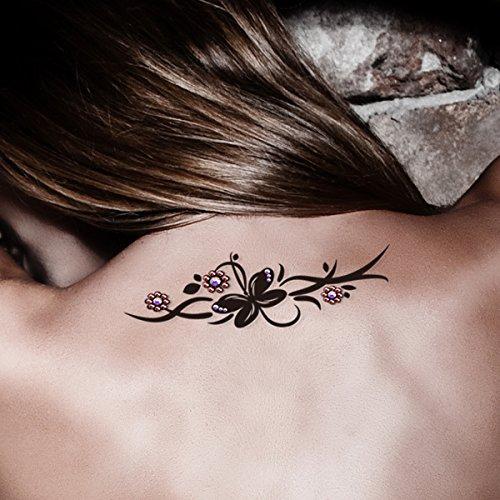tribal-tattoo-temporaneo-swarovski-crystal-piuttosto-gemma-petalo-body-art-party-britannico