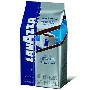 Lavazza Gran Filtro Dark Roast Whole Coffee Beans, 2.2 Pound Bag by Lavazza