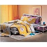 Flower Talk Duvet Cover and Pillow Shams Set, Queen