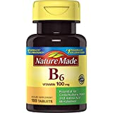Nature Made Vitamin B-6 ( Pyridoxine) 100 mg Tablets 100 Ct